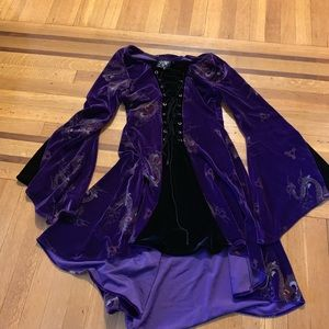 Purple velvet renaissance dress
